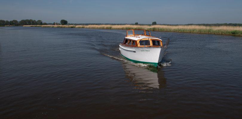 Boat restoration at Broom, the Jenny Wren boat