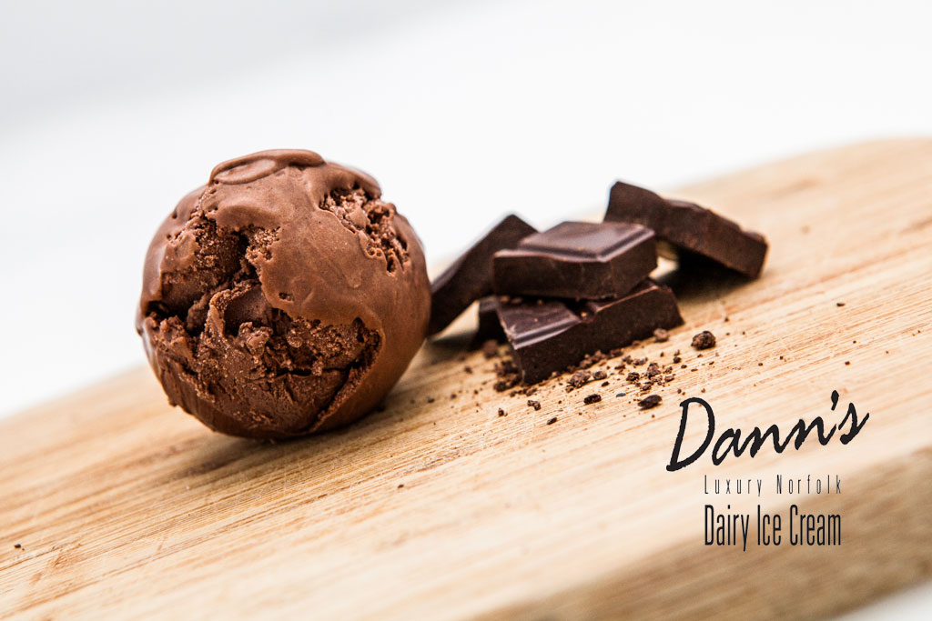 Dann's luxury chocolate ice cream