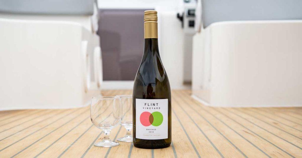 Flint wine on a Broom Boats holiday cruiser