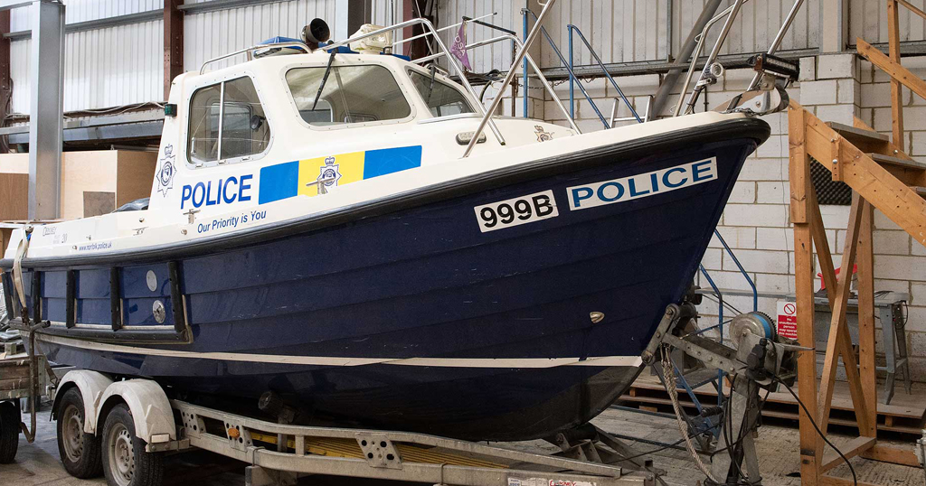 Broads Beat boat being serviced by Broom