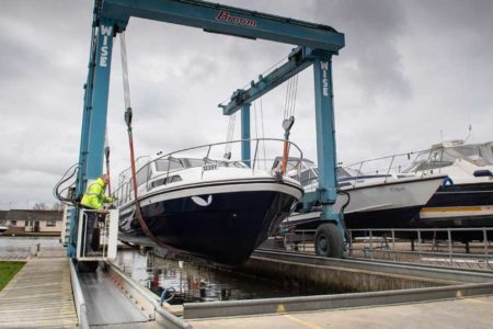 boat transportation hoist at Broom